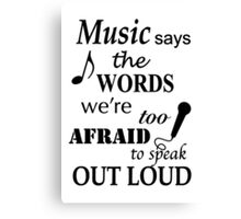 Music Quotes Canvas Print