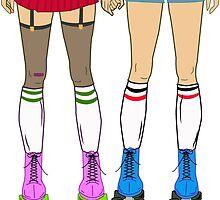 Skate Date - Female + Female by Goldenunicorn