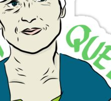"""Jill Stein """"Green Queen"""" Sticker"""