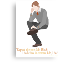 Remus Believes in Commas Canvas Print