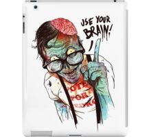 Use your brain iPad Case/Skin