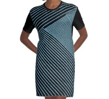 Line Art - Geometric Illusion, abstraction no. 3 Graphic T-Shirt Dress