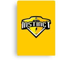 Team Instinct Sports Themed Logo Canvas Print