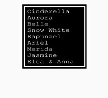 Disney Princess List Unisex T-Shirt