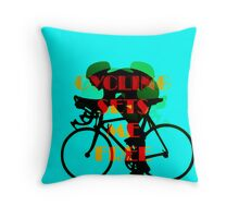 Cycling Sets Me Free Throw Pillow