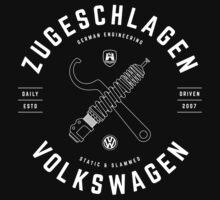 Zugeschlagen Volkswagen [White Mono] Kids Tee