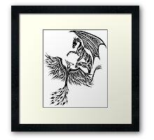 Dragon Fighting 578 Framed Print