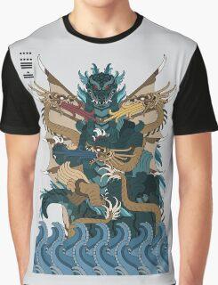 Godzilla Ghidorah All Out Battle Kaiju Graphic T-Shirt