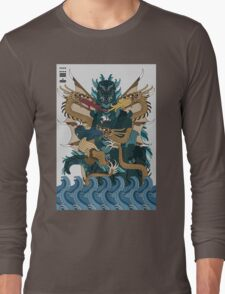 Godzilla Ghidorah All Out Battle Kaiju Long Sleeve T-Shirt