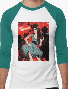 Amy Winehouse Men's Baseball ¾ T-Shirt