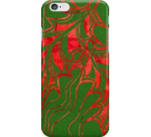 Miniature Aussie Tangle 020 in Xmas Red and Green iPhone Case/Skin