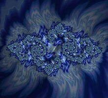 Emeralds on a Bed of Sapphire Flames by Roger Passman