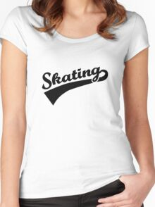 Skating Women's Fitted Scoop T-Shirt