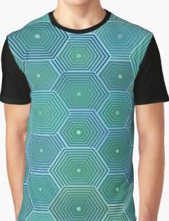 Hexagon Ripples Graphic T-Shirt