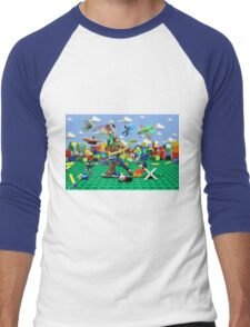Woody vs the Little Guys Men's Baseball ¾ T-Shirt