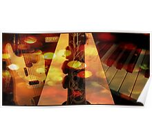 Jazzy Music Collage Poster
