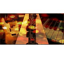 Jazzy Music Collage Photographic Print