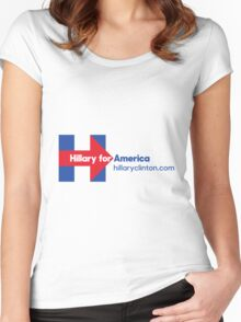 Hillary Clinton for America Women's Fitted Scoop T-Shirt