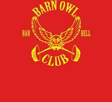 Barn Owl Barbell Club Yellow Unisex T-Shirt