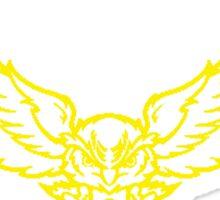 Barn Owl Barbell Club Yellow Sticker