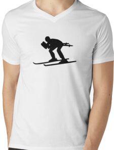 Downhill ski Mens V-Neck T-Shirt