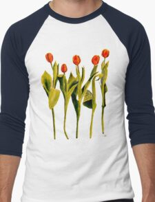 Five Tulips Men's Baseball ¾ T-Shirt