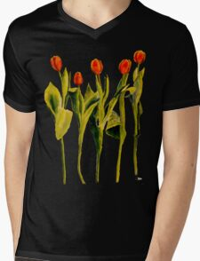 Five Tulips Mens V-Neck T-Shirt