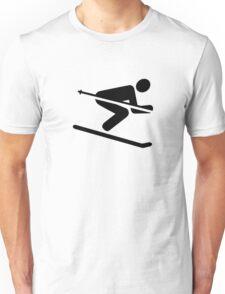Ski downhill Unisex T-Shirt