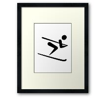 Skiing icon Framed Print