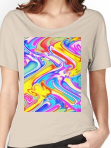 A Trendy Splash of Swirled Watercolor Women's Relaxed Fit T-Shirt