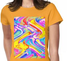 A Trendy Splash of Swirled Watercolor Womens Fitted T-Shirt