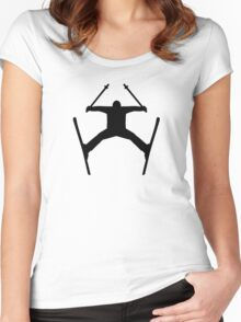 Freestyle ski jump Women's Fitted Scoop T-Shirt