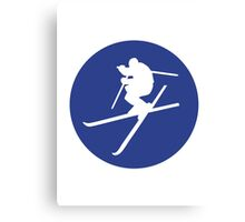 Freestyle skiing Canvas Print