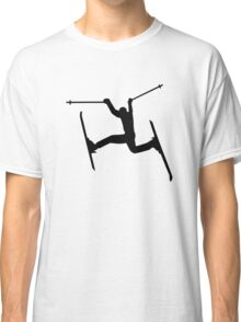 Crazy Freestyle skiing Classic T-Shirt