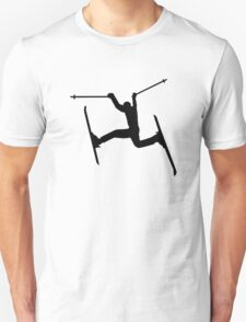 Crazy Freestyle skiing Unisex T-Shirt