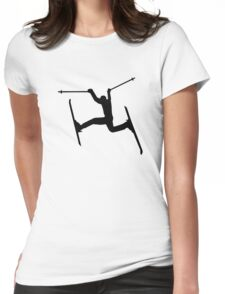 Crazy Freestyle skiing Womens Fitted T-Shirt