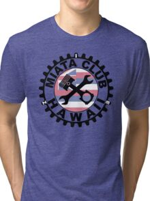 Miata Club of Hawaii Black Graphic Print  Tri-blend T-Shirt