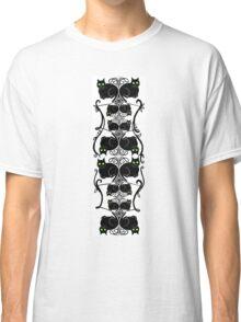 Nouveau kitty pattern Classic T-Shirt