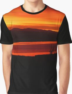 *Magenta Scarlet Red Sun Up* Graphic T-Shirt