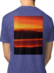 *Magenta Scarlet Red Sun Up* Tri-blend T-Shirt