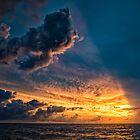Powerful Ocean Sunset by JohnKarmouche