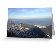 Cristo's view of Rio Greeting Card