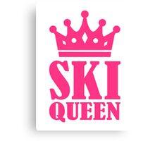 Ski Queen champion Canvas Print