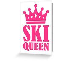 Ski Queen champion Greeting Card