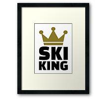 Ski King champion Framed Print
