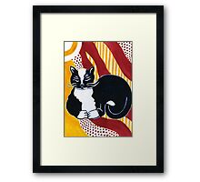 Content Tuxedo Cat Framed Print