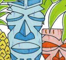 Pineapple Tiki Hut Sticker
