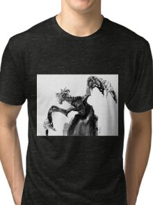 Durnehviir from The Elder Scrolls V Skyrim Dragon; Fantasy Art Tri-blend T-Shirt