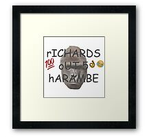 rICHARDS oUT 5 hARAMBE Framed Print