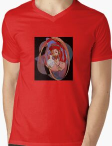 Red, the engraver Mens V-Neck T-Shirt
